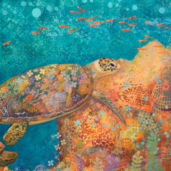 """One Turtle, Two Turtle"" 30""w x 20""h  signed number print"