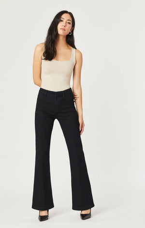 Mavi Glenda High Rise Wide Leg Ink Gold Icon Denim Jeans