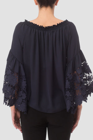 Joseph Ribkoff Pull On Off The Shoulder Lace Top