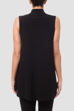 Joseph Ribkoff Black Sleeveless Mandarin Top