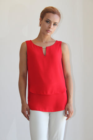 Joseph Ribkoff Sleeveless Flatering Top