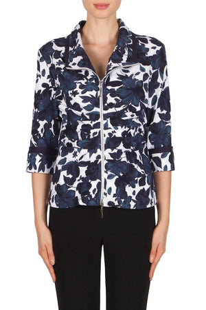 Joseph Ribkoff 3/4 Sleeve Flower Jacket