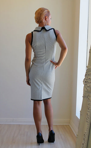 Joseph Ribkoff Houndstooth Audrey Sleeveless Dress