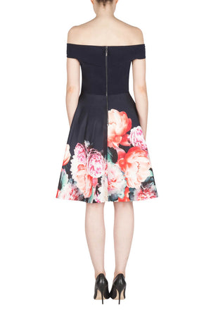 Joseph Ribkoff  Floral Bottom Dress