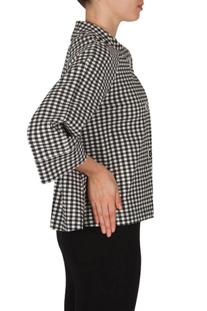 Joseph Ribkoff Printed Black And White 3 Button Jacket