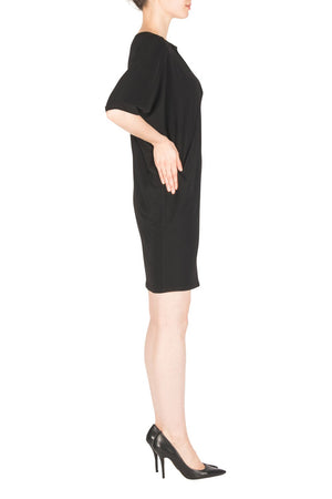 Joseph Ribkoff  Asymmetric Short Sleeve Dress