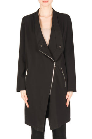 Joseph Ribkoff  Long Sleeves Long Zipper Jacket