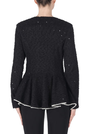 Joseph Ribkoff Sequence Pearls Long Sleeves Jacket