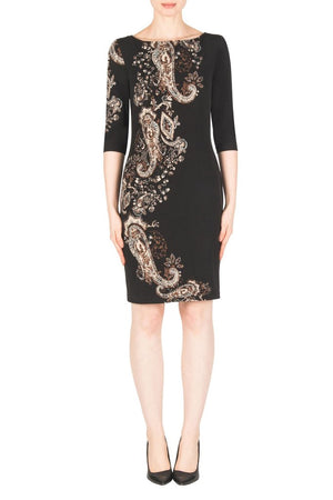 Joseph Ribkoff 3/4 Sleeves Printed Dress
