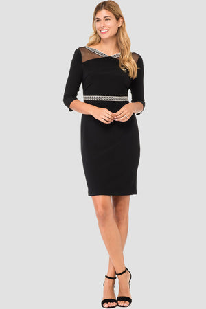 Joseph Ribkoff 3/4 Sleeves Rhinestones Dress