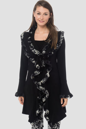 Joseph Ribkoff V Neck Long Sleeves Cover Up Jacket. 184408