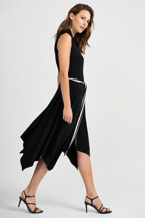 Joseph Ribkoff V Neck Front Wrap Dress