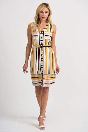 Joseph Ribkoff Sleeveless Waist Belt Dress