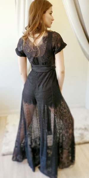 Byron Lars Jumpsuit Lace Collage