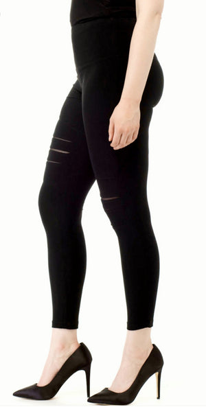 Joseph Ribkoff Black Leggings With Mesh