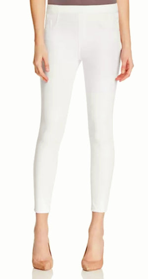 Spanx Cropped Flare Denim White Pants