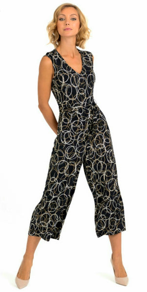 Joseph Ribkoff Long V Neck Sleeveless Jumpsuit