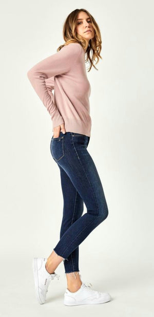 Mavi Jeans Alissa Ankle Dark Brushed Denim Jeans