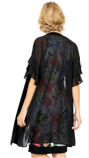 Joseph Ribkoff Long/Short Sleeves Cover Up