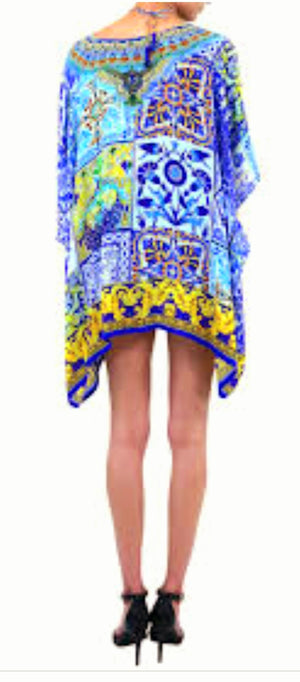 Shahida Parides Short Lace Up Kaftan Top