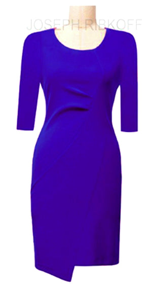 Joseph Ribkoff Long Sleeves Round Neck Dress