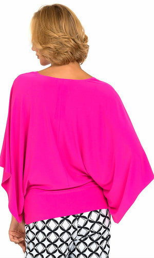 Joseph Ribkoff V Neck Asymmetric Top