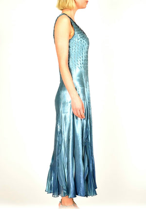 Komarov Long Silver Blue NGT Dress