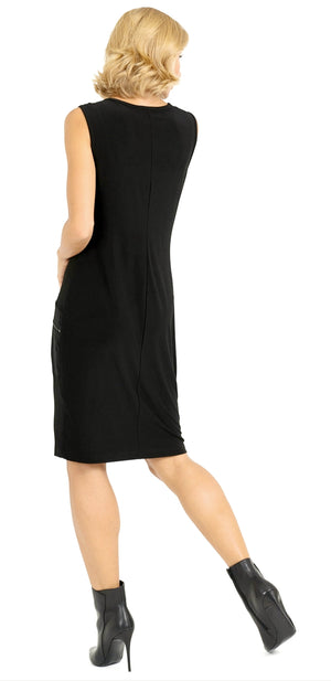 Joseph Ribkoff Sleeveless Zipper Dress