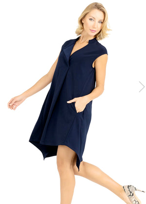 Joseph Ribkoff V Neck Sleeveless Assymetric Tunic