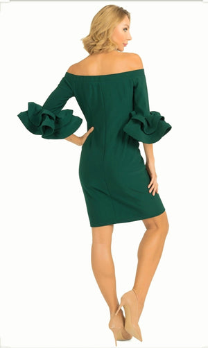 Joseph Ribkoff Off Shoulders Long Sleeves Dress