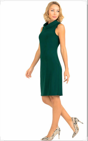 Joseph Ribkoff Round Neck Sleeveless Tunic Dress