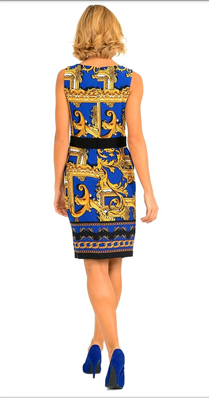 Joseph Ribkoff Sleeveless Knee Length Versace Dress