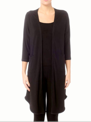 Joseph Ribkoff L/S Mesh Back Lightweight Black Long Jacket