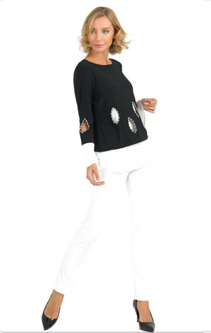 Joseph Ribkoff Long Sleeves Double Layer Tunic
