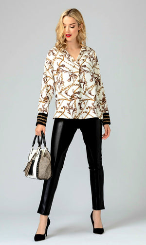 Joseph Ribkoff Long Sleeves Versage Blouse