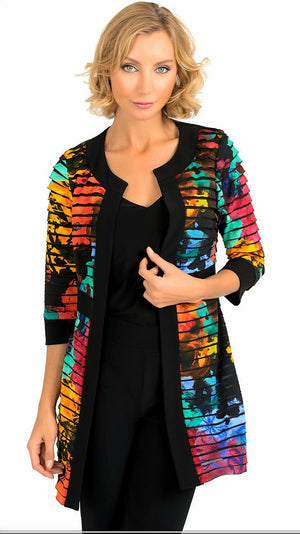 Joseph Ribkoff  3/4 Sleeves Multicolor Jacket