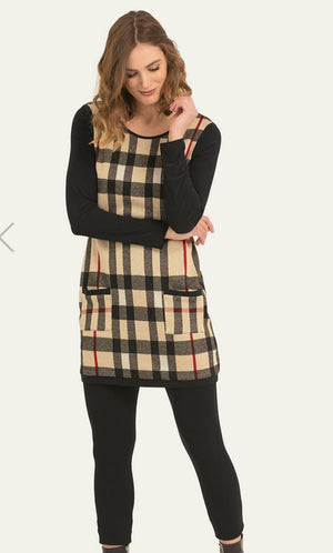 Joseph Ribkoff Long Sleeves Front Pockets Tunic