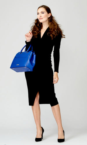 Joseph Ribkoff V Neck Long Sleeves Dress