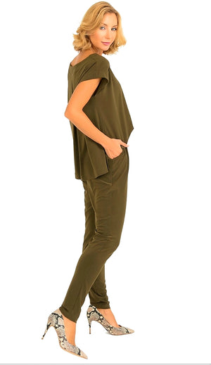 Joseph Ribkoff  Short Sleeves Jumpsuit