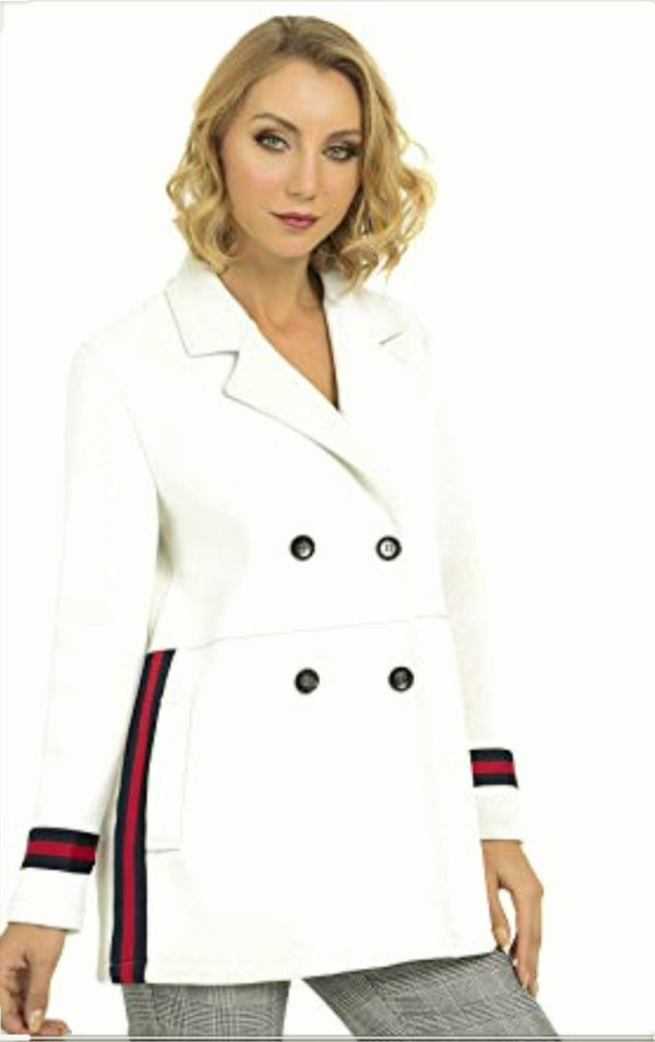 Joseph Ribkoff Long Sleeves Strippes Coat