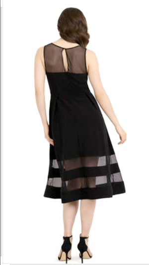 Joseph Ribkoff Top And Bottom Mesh Sleeveless Dress