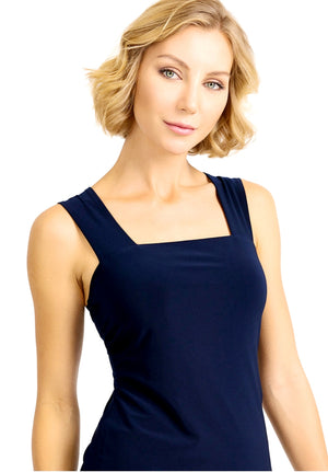 Joseph Ribkoff Sleeveless Square Front Top