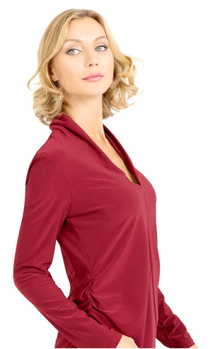 Joseph Ribkoff V Neck Long Sleeves Top