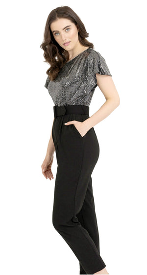Joseph Ribkoff Sequence Short Slevees Jumpsuit