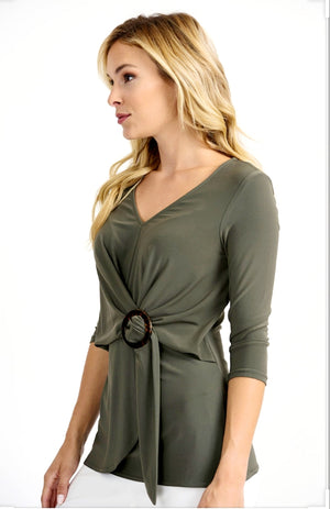 Joseph Ribkoff 3/4 Sleeves V Neck Tunic