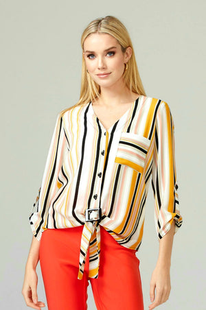 Joseph Ribkoff 3/4 Sleeves Multicolor Blouse