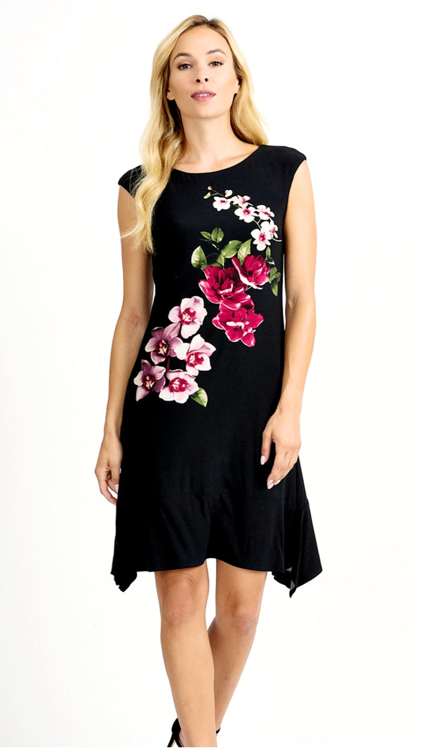 Joseph Ribkoff Sleeveless Floral Print Dress