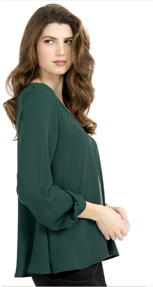 Joseph Ribkoff V Neck Squence Long Sleeves Top