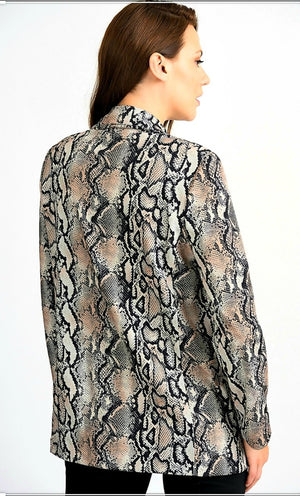 Joseph Ribkoff Long Sleeves Snake Skin Jacket