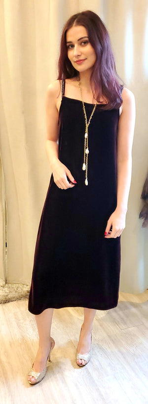 Tba Silk Velvet Sleeveless Dress
